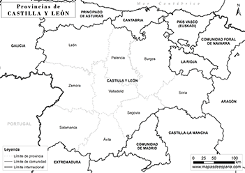 Mapa Castilla Y Leon En Blanco.Mapa Castilla Y Leon
