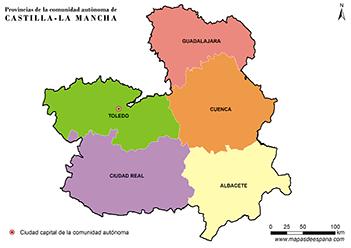 Mapa Castilla La Mancha Png.Mapa Castilla La Mancha