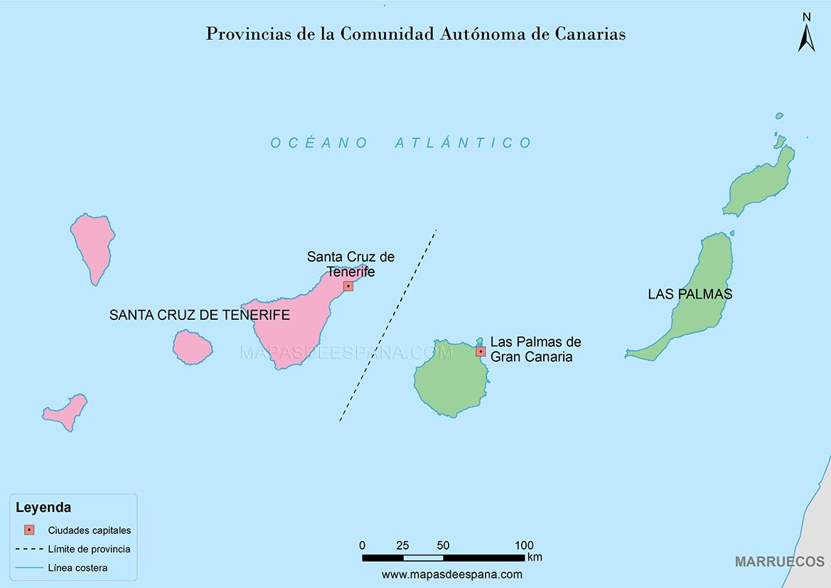 Mapa provincias de las islas canarias - Islas canarias con ninos ...