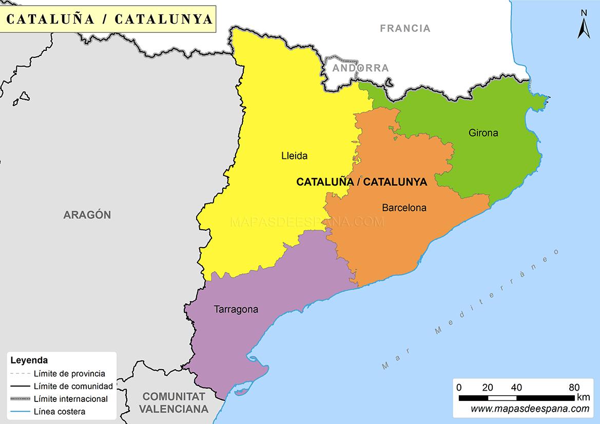 Resultado de imagen de mapa Andorra i Catalunya