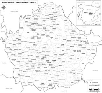 Mapa Provincia De Cuenca.Mapas De La Provincia De Cuenca
