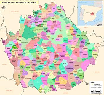 Mapa Provincia De Cuenca España.Mapas De La Provincia De Cuenca