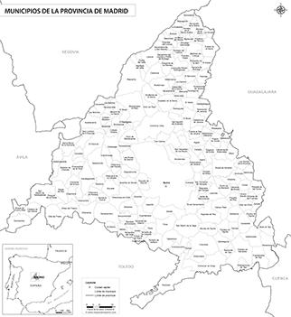 Mapa De Madrid Y Sus Provincias.Mapas De La Provincia De Madrid