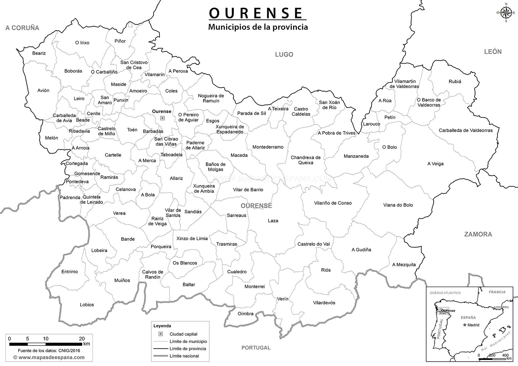 Mapa Castilla Y Leon En Blanco.Mapas De Espana Para Descargar E Imprimir Completamente