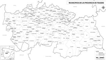 Mapa Politico De Toledo.Mapas De La Provincia De Toledo