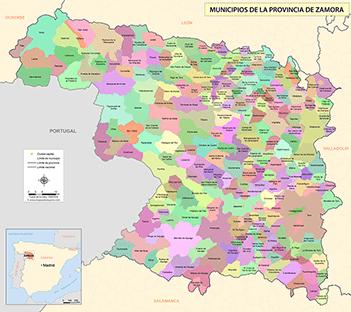Provincia De Zamora Mapa.Mapas De La Provincia De Zamora